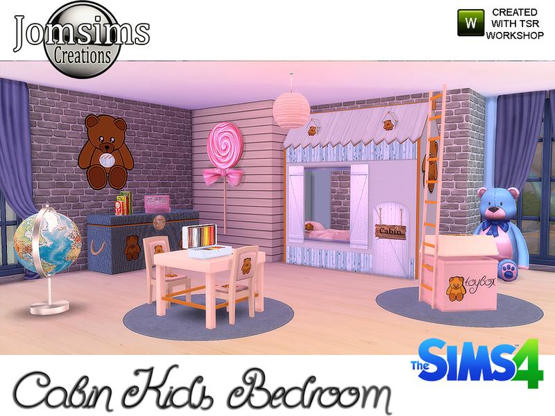 Jomsims39 Cabin Kids Bedroom