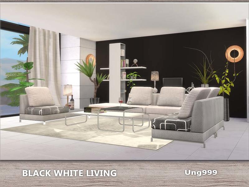 ung999u0027s Black White Living - white living room sets