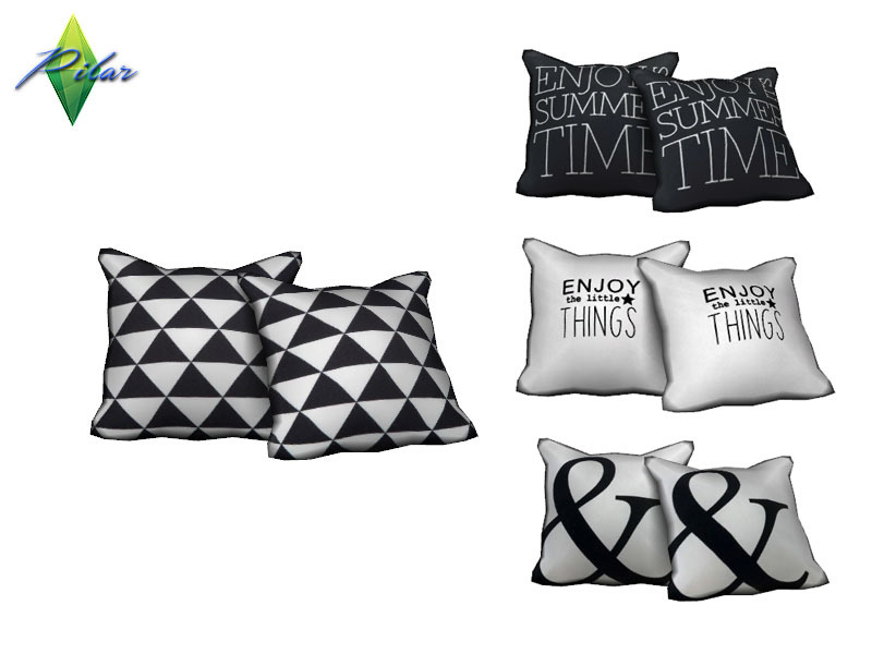 Pilar39s Calligraphik Pillows B