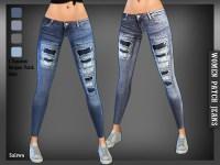 Saliwa's Designer Patch Jeans
