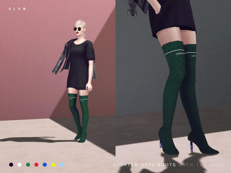 Slyd39s Lighter Heel Over The Knee Boots