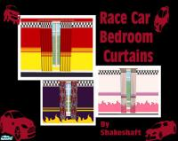 shakeshaft's Race Car Bedroom Curtains