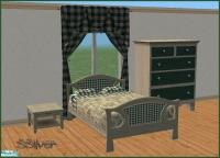 SSilver's Country Living Toile Bedroom/Green