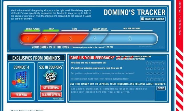 implementation of pizza tracker by dominos Dominos pizza order tracker ashley brauer loading dominos pizza online tracker metal theme - duration: 0:38 grnightout 30,467 views 0:38.