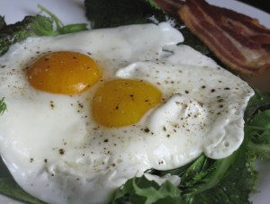 Try greens with eggs instead of toast