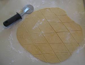 Use a pizza wheel for cutting dough