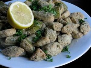 Okra fry, lowcountry style