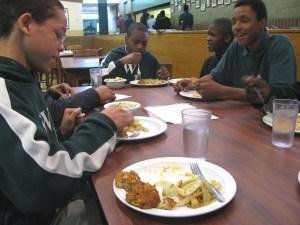 Mealtime at Washington Jesuit Academy