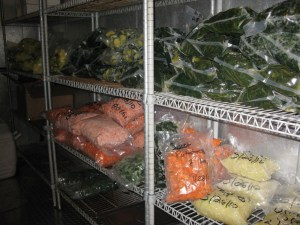 Much of the produce used by D.C. Central Kitchen and Fresh Start Catering is purchased at auction in Dayton, Va., then processed and frozen