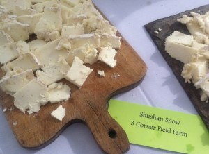 One of many local cheeses to savor