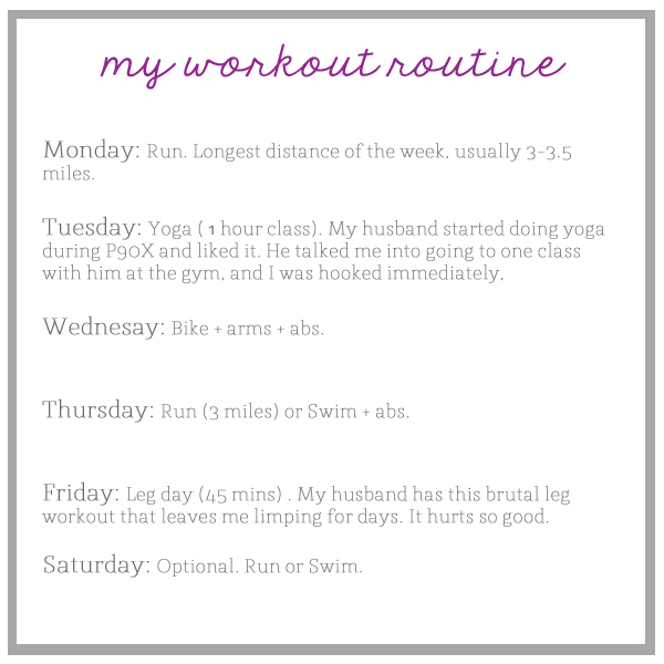 workout routine \u2013 The Small Things Blog - workout sheet