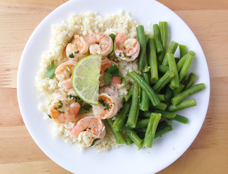 Cilantro Lime Shrimp and Cauliflower Rice / The Small Town Foodie