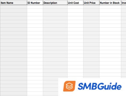 How to Create an Inventory Sheet with free sample download