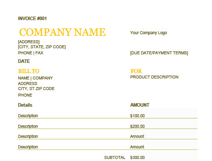Invoice Template - Free Templates for Word, Excel, and More