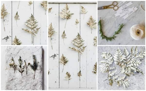 Gold Sprig Backdrop Collage
