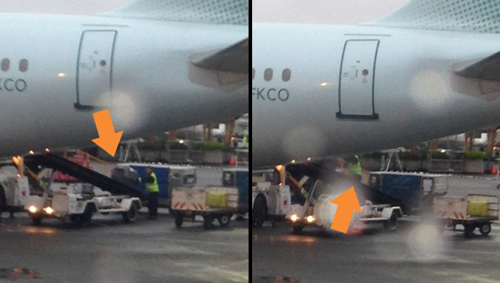 Another story of baggage handlers caught on camera. Except this one's different.