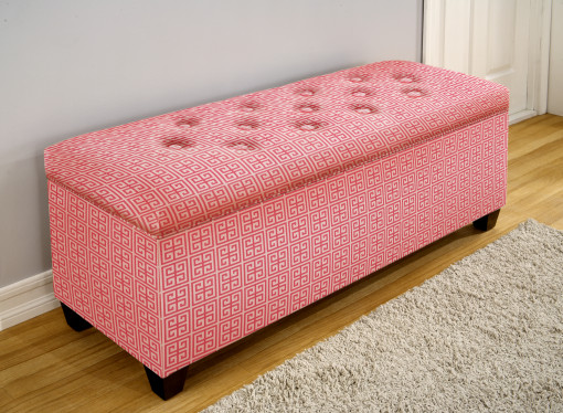 Upholstered Shoe Storage Bench In Pink By The Sole Secret