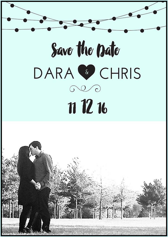 Free Save the Date Templates  DIY Save the Date Tutorial