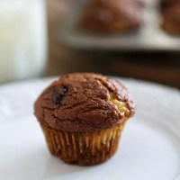 Pumpkin Muffins with Cream Cheese and Nutella Swirl