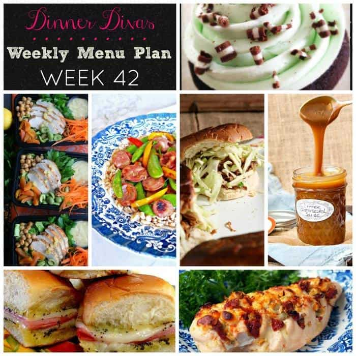 Dinner Divas Weekly Meal Plan Week 42 - how to plan weekly meals for two
