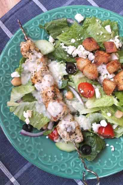 Grilled Chicken Gyro Salad