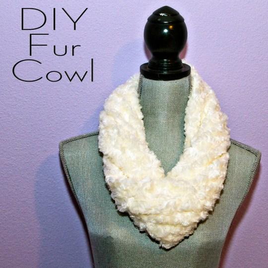 DIY Fur Cowl
