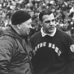 Duffy Daugherty & Ara Parseghian in 1966 (Baltimore Sun)