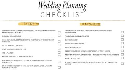 11 Free, Printable Wedding Planning Checklists