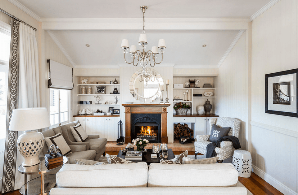 traditional style family room decorating ideas with