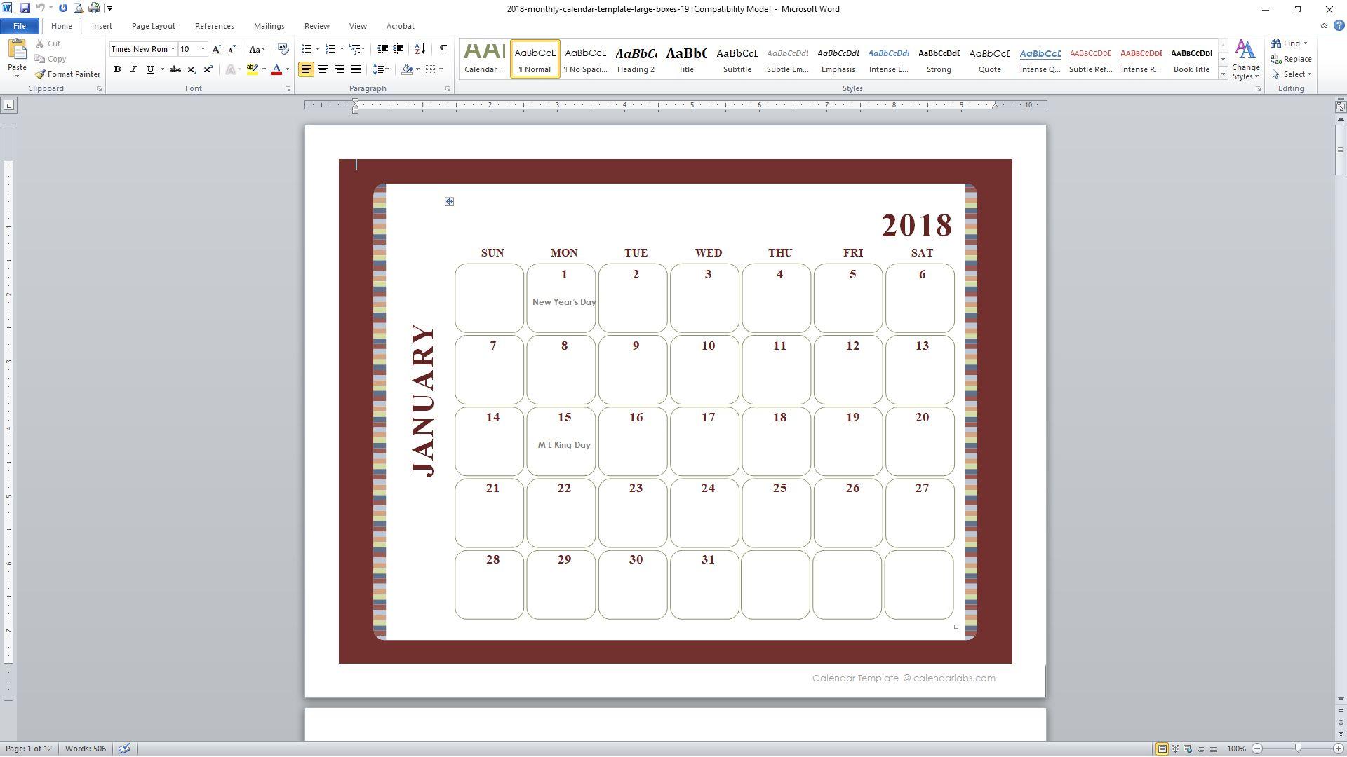 Sun Page 3 A3 Calendar 2017 Models Calendars Planners