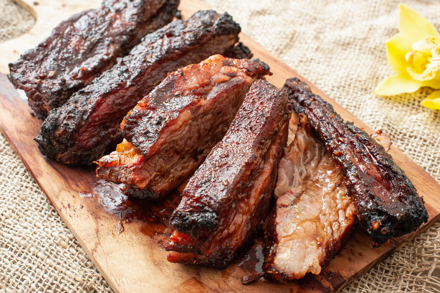 Slow Grilled Beef Ribs Recipe