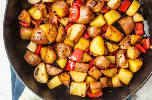 Medium Of Fried Red Potatoes