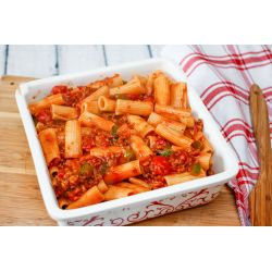 Prissy Ground Beef Cheese 3057389 Step 7 5baf8dd2c9e77c00265e62ac Baked Ziti Baked Ziti Ken Broth Baked Ziti Ken Food Network