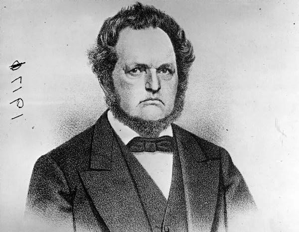 Byron Kilbourn and his  beard. Courtesy of Wisconsin Historical Society.