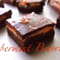 peppermint brownies layered thin mint brownies