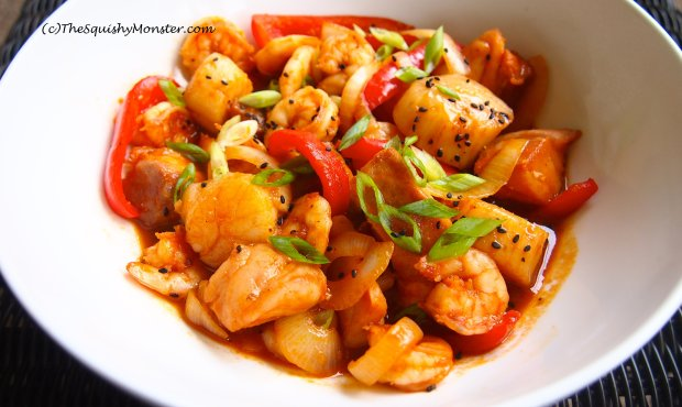 Korean Easy Stir Fry Seafood Recipe