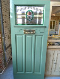 1930's Art Deco Stained Glass Front Door - Stained Glass ...
