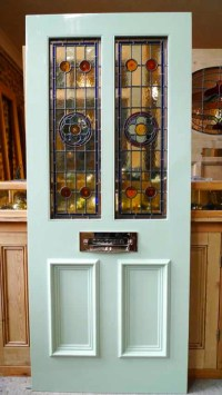 Victorian Style 2 Panel Stained Glass Front Door - Stained ...