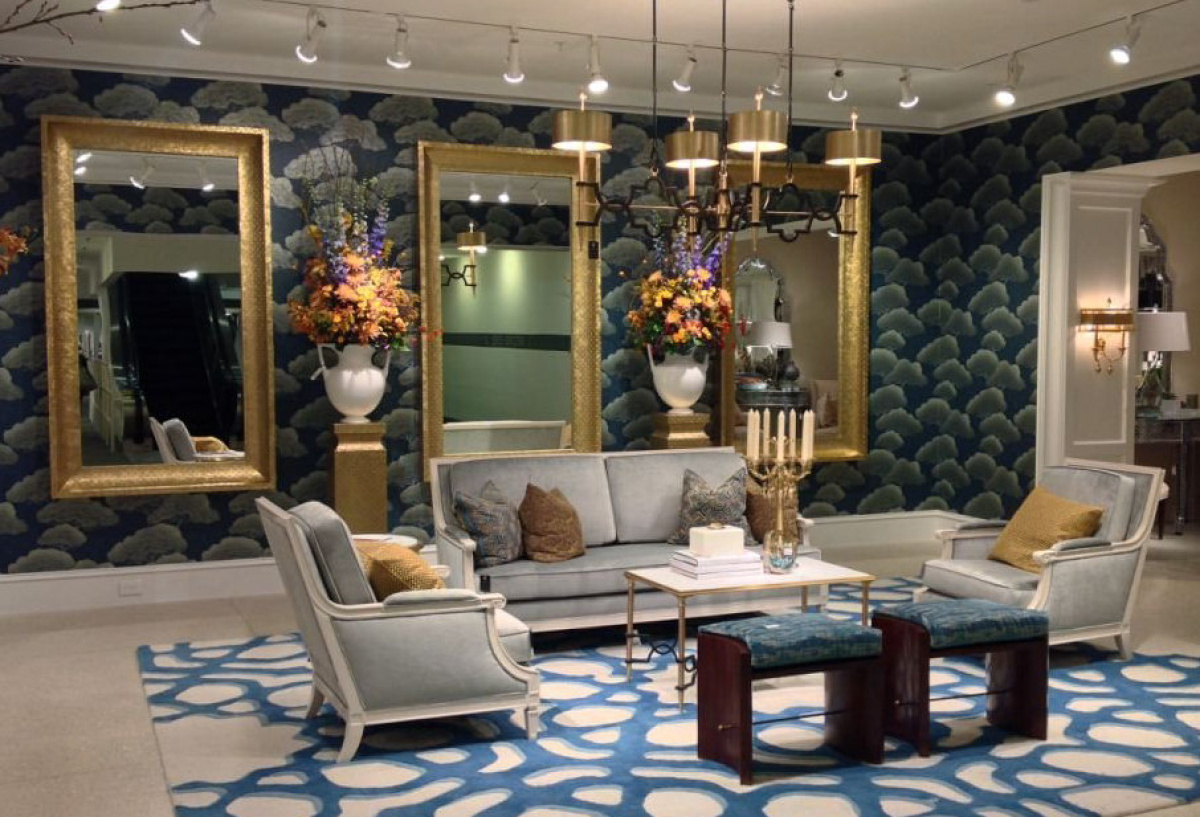 Vintage Black Wallpaper High Point Furniture Show Reveals Mainstream Taste For
