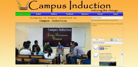 Campus Induction - Inspiring The Young Minds