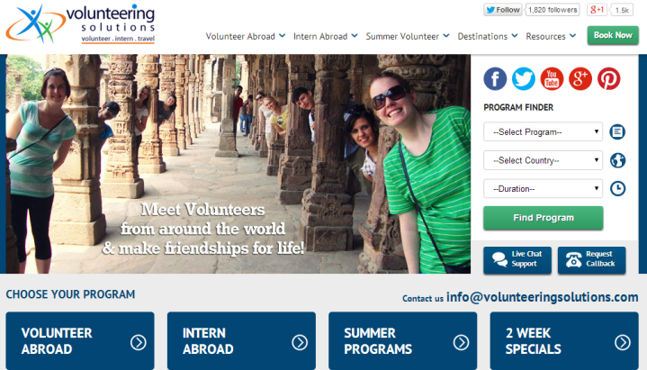 Volunteering Solutions – Connecting Students With International Organizations