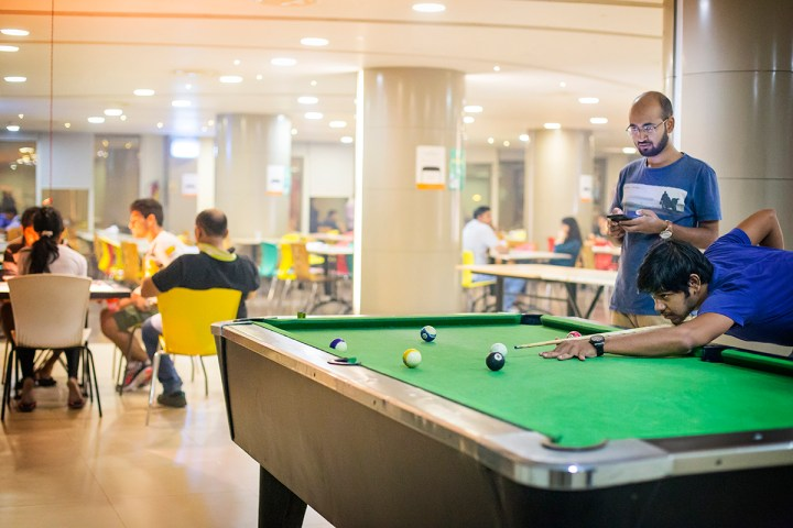Canteen with various recreational activities -Pool table