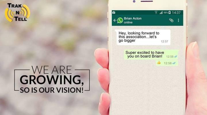 WhatsApp Founder Brain Acton Invests In Trak N Tell