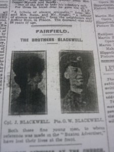 John & George Blackwell in the Buxton Advertiser