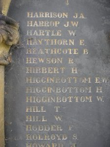 Frederick's name on the Memorial