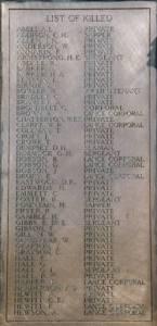Knaresborough Roll of Honour