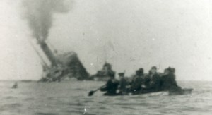The sinking of the ss Aragon after Francis had dis-embarked 30th December 1917