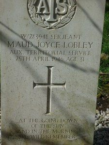 Sergeant W/283948 Maud Joyce Lobley, Auxiliary Territorial Service, died 25/4/1946