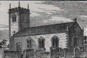 Fairfield Church in 1839 designed by Joseph Swann