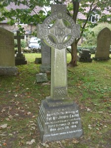 Rev Joseph Eayrs at St Peters Churchyard